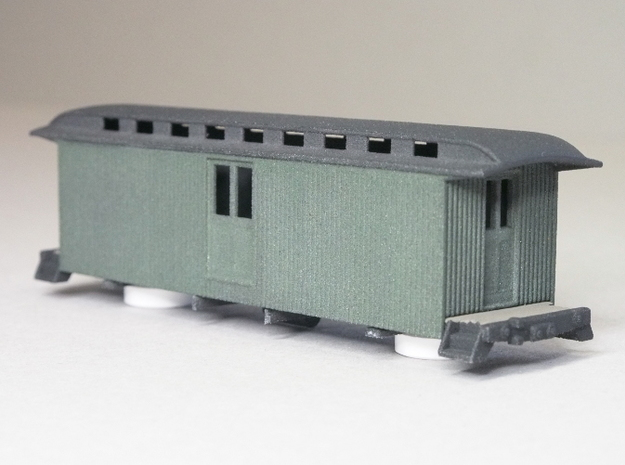 HOn3 30ft Baggage Car C 3d printed