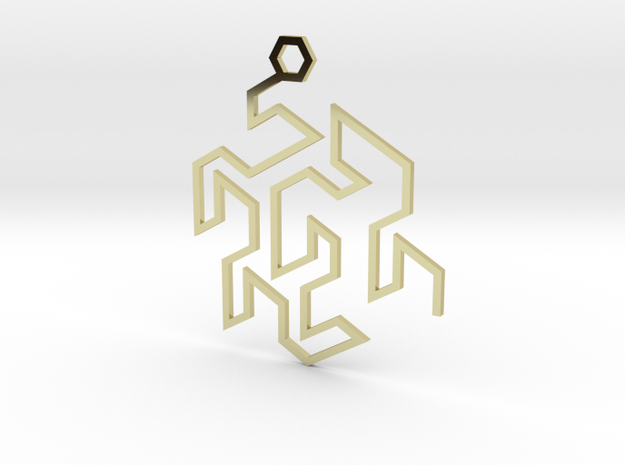 Gosper Pendant Single in 18k Gold Plated Brass