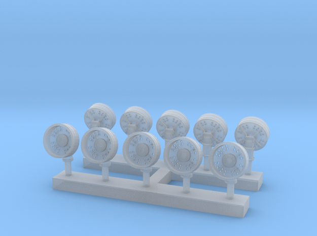 1:350 Scale OE-82 Satcom Antennas in Smooth Fine Detail Plastic
