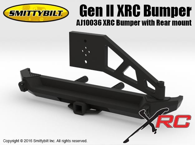 AJ10036 Gen II Rear XRC Bumper with Rear mount