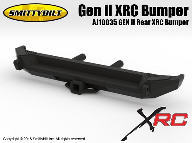 AJ10035 Gen II Rear XRC Bumper in Black Natural Versatile Plastic