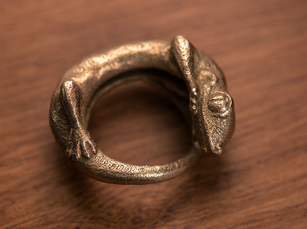 (Size 7) Gecko Ring