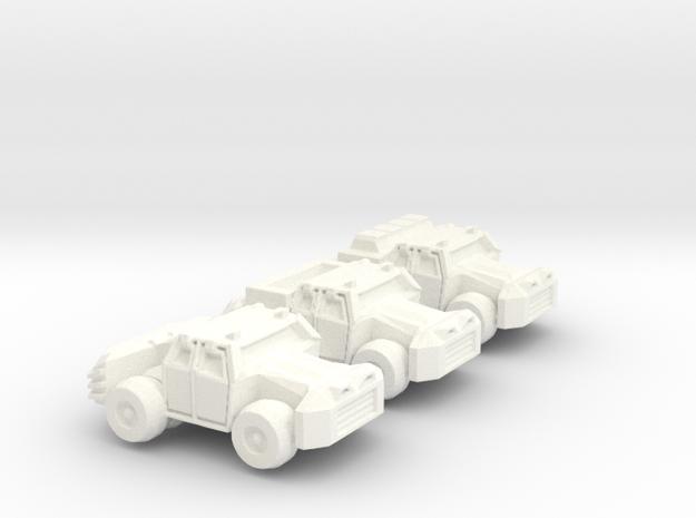 Civilian Colony Trucks in White Processed Versatile Plastic