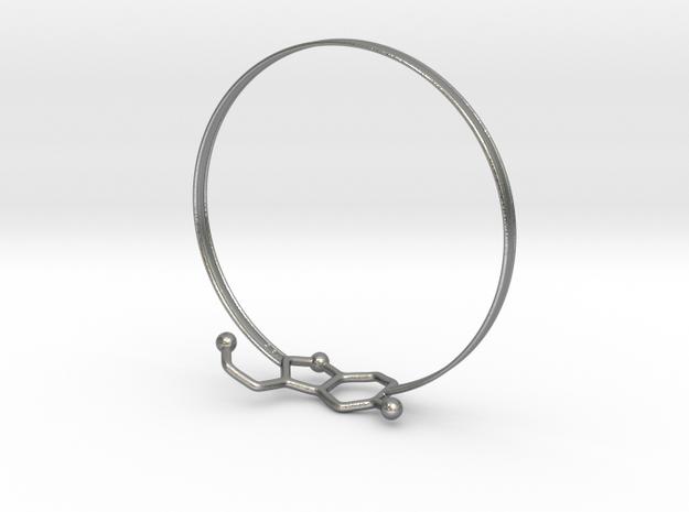 Serotonin Bracelet 75 mm in Natural Silver