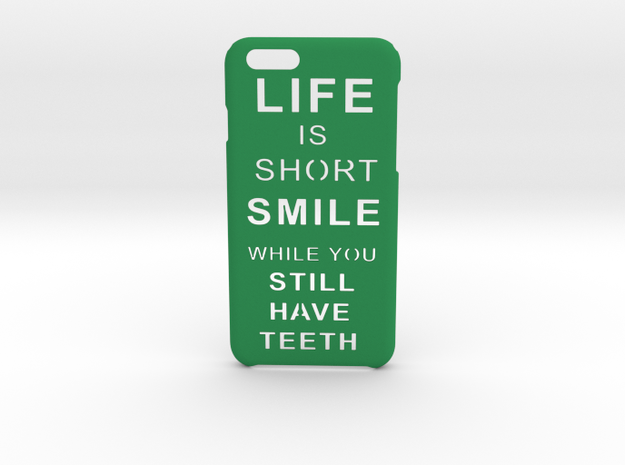 LifeIsShort iPhone 6 6s case in Green Processed Versatile Plastic