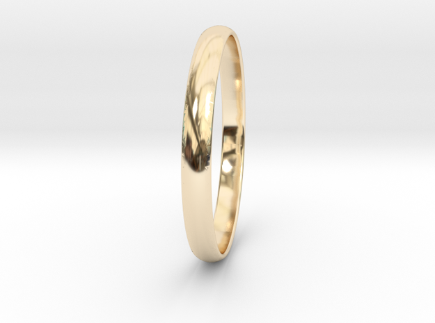 Ring Size 8.5 Design 3 in 14K Yellow Gold