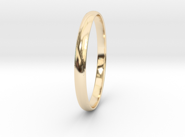Ring Size 10 Design 3 in 14k Gold Plated Brass