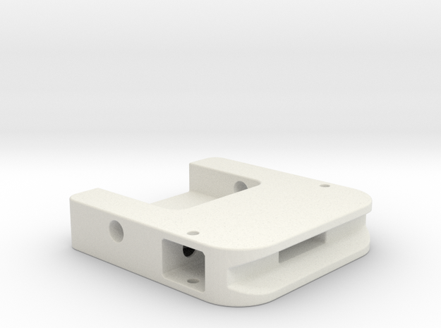 PP Cape Clip-Housing in White Strong & Flexible