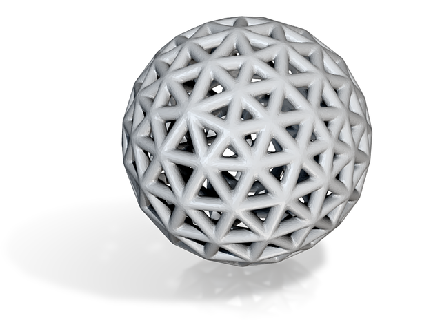 DRAW geo - sphere triangles B in White Strong & Flexible