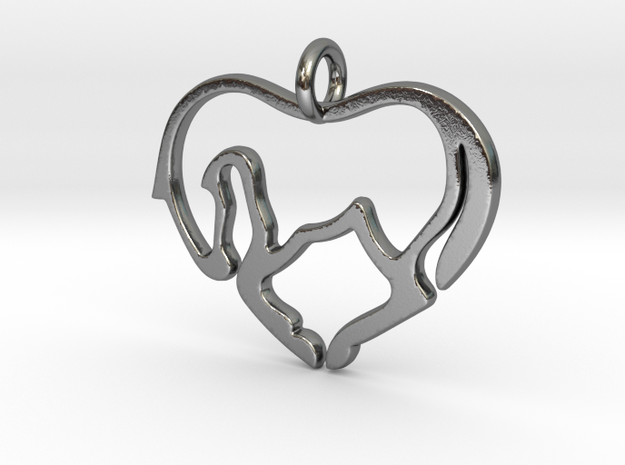 Horse Lover Pendant in Polished Silver