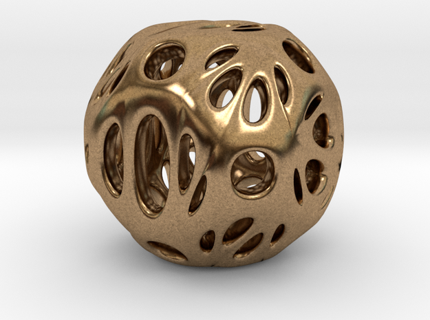 hydrangea ball 06 in Natural Brass