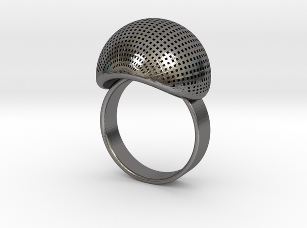 VESICA PISCIS Ring Nº1 in Polished Nickel Steel