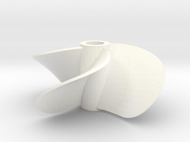 Propeller in White Processed Versatile Plastic