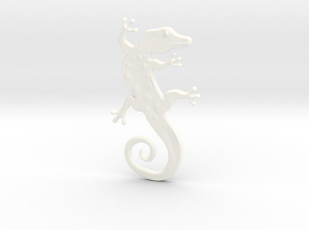 BioArtifacts Lizard Logo Pendant in White Processed Versatile Plastic