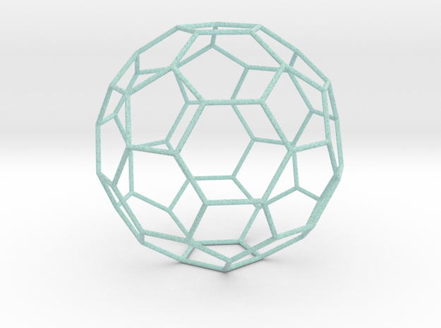 0472 Truncated Icosahedron E (18.5 см) #007 in Full Color Sandstone
