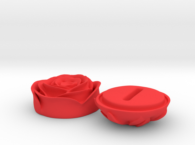 SHOSHANA ring box in Red Processed Versatile Plastic