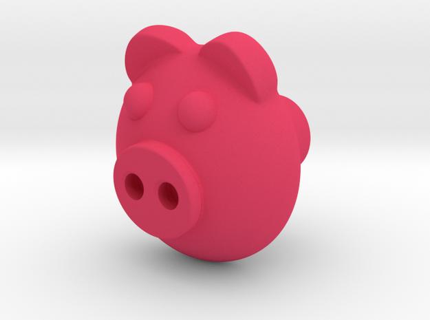 PIGI door knob in Pink Processed Versatile Plastic