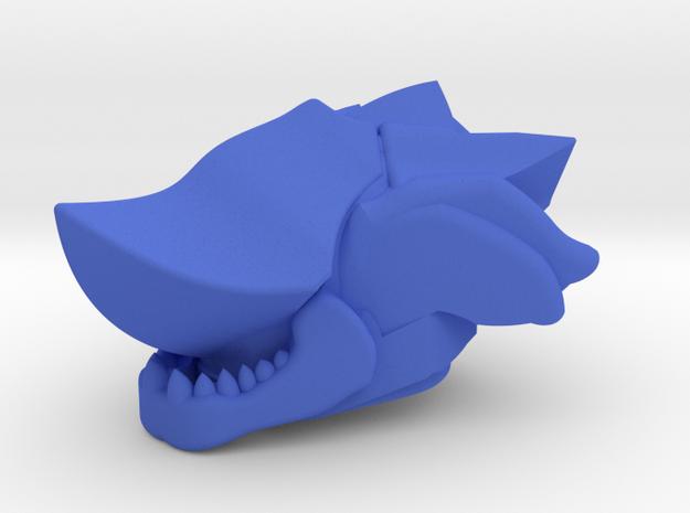 Warpriest Helm in Blue Processed Versatile Plastic