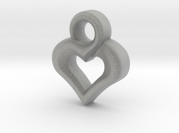 Heart Pendant in Metallic Plastic