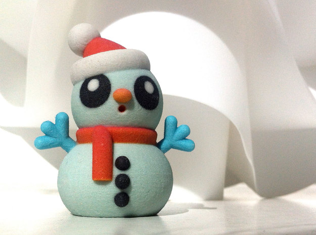 SNOWMAN A in Full Color Sandstone