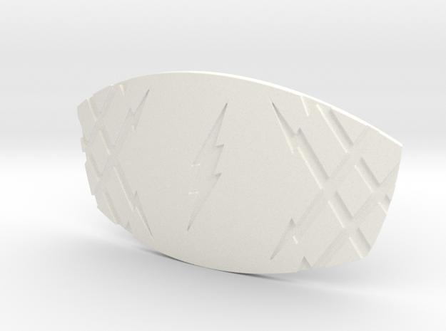 THE FLASH - Jay Garrick Belt Buckle in White Processed Versatile Plastic