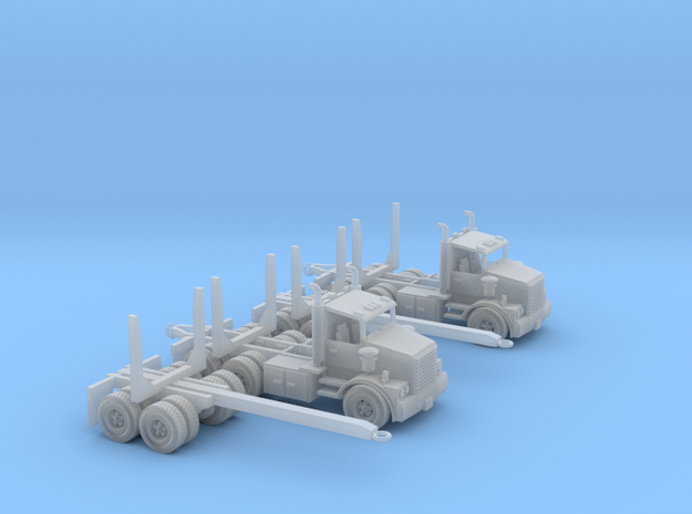 Two Logging Trucks Z Scale in Smooth Fine Detail Plastic