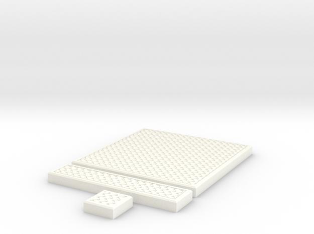 SciFi Tile 25 - Mesh Grating in White Processed Versatile Plastic