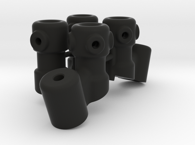 M3R16 Angled Scratchbar Mounts in Black Strong & Flexible