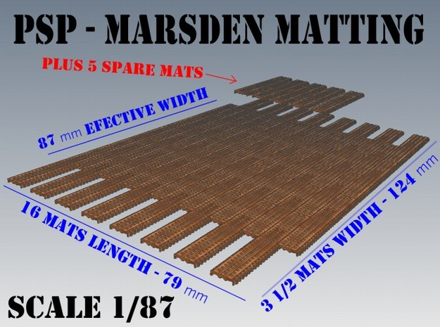 1-87 Marsden Matting Section 3d printed