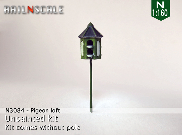 Pigeon-loft (N 1:160) in Smooth Fine Detail Plastic