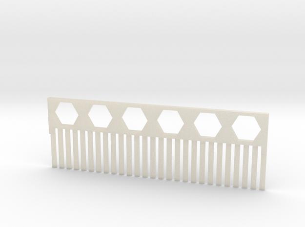 Acrylamide Gel Comb in White Acrylic