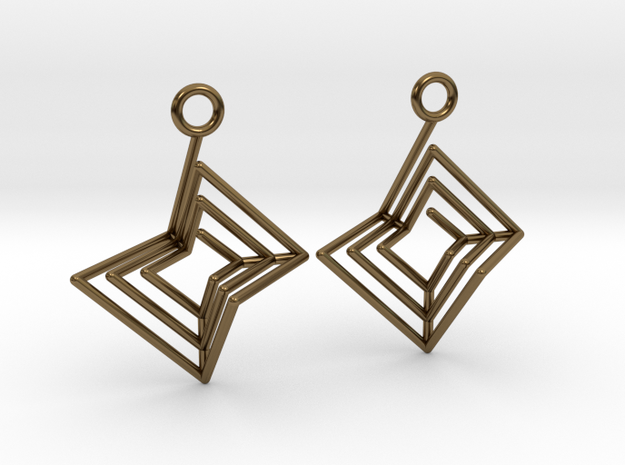 Nested Spiral Earrings (Large) in Polished Bronze