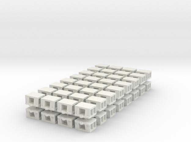 1:48 - WSF Bridge Shoe 64ea in White Natural Versatile Plastic