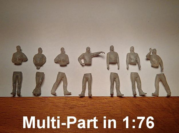 [1:76] Male set (multi-part) in Smooth Fine Detail Plastic