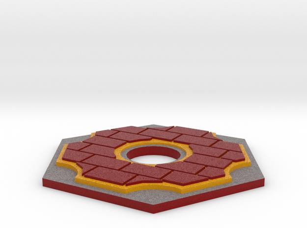 Catan Hex Tile Brick 79mm in Full Color Sandstone