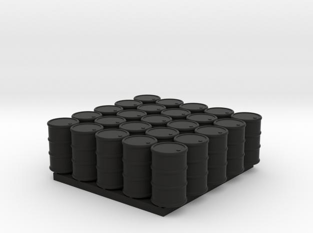 25 N/OO Scale Barrels in Black Strong & Flexible: 1:160 - N