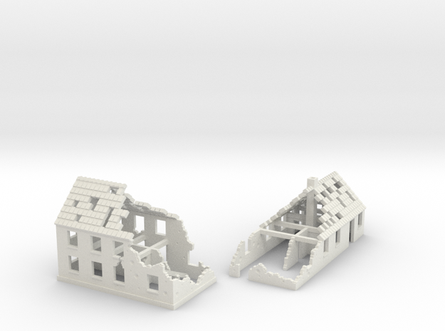 1:285 Ruins X2 in White Natural Versatile Plastic