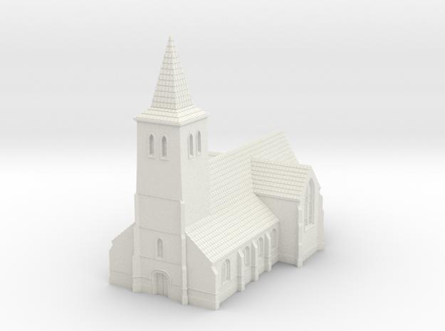 1:350-Church in White Natural Versatile Plastic