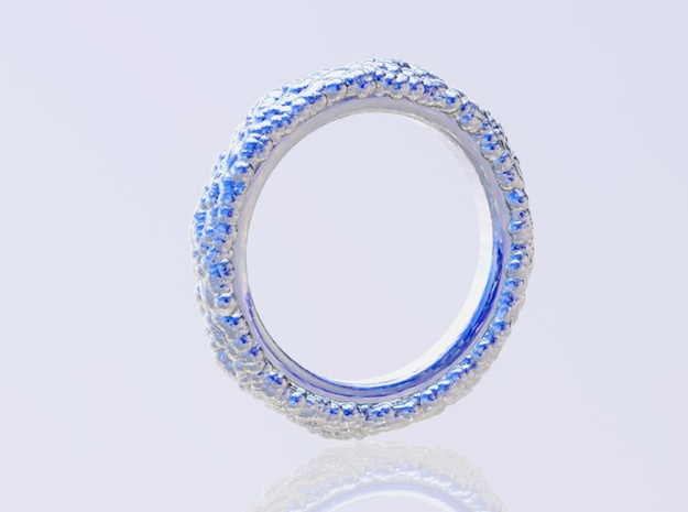 Organic Ring in Polished Silver