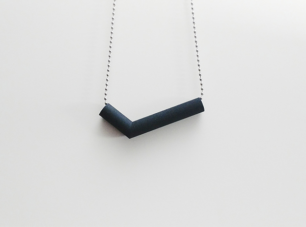 Pipe Pendant N°2 in Black Strong & Flexible