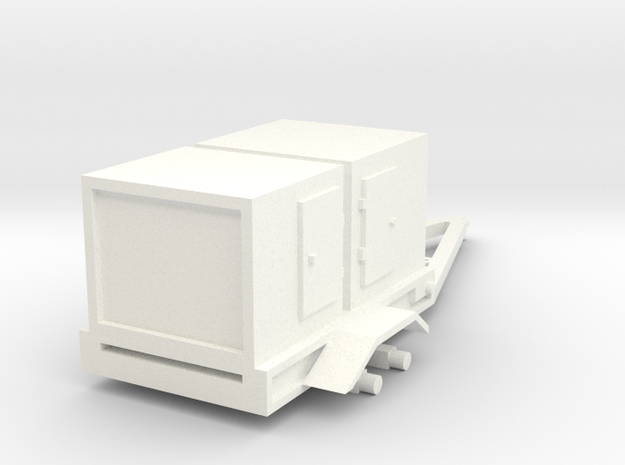 1/64 Generator Trailer No Wheels Fixed in White Strong & Flexible Polished