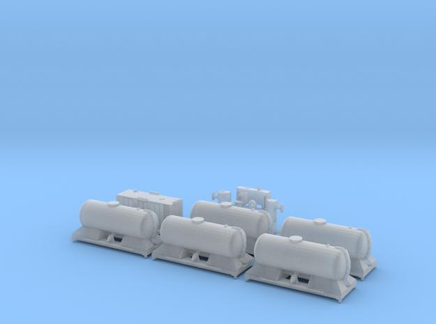 FEA-B Rail Head Treatment Train Five Tank Version  in Smooth Fine Detail Plastic