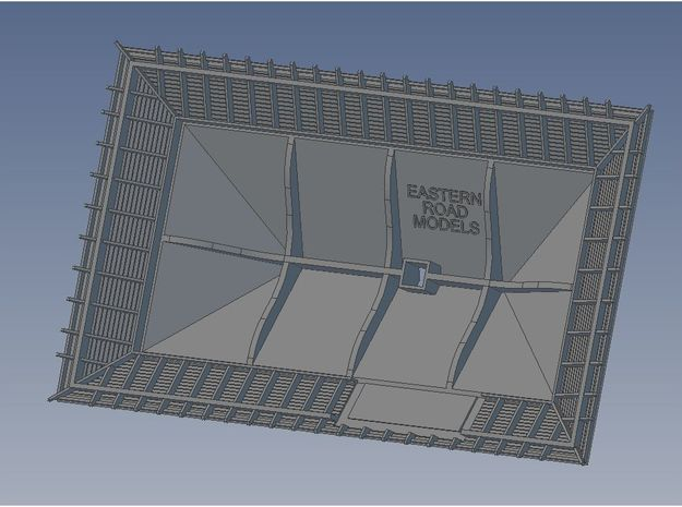 1904 Way Stn Roof Mirrored in Smooth Fine Detail Plastic