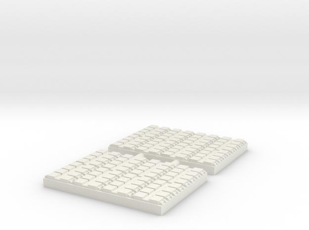 1/500 64 Cell Mk 41 VLS (x2) in White Natural Versatile Plastic