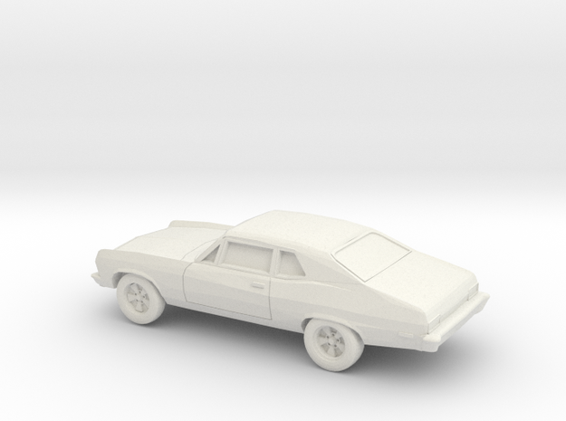 1/87 1971-74 Chevrolet Nova in White Natural Versatile Plastic