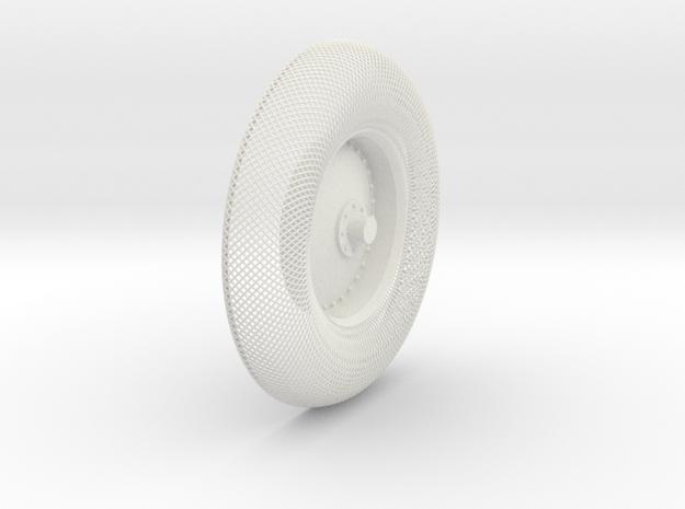 B-LRV wheel : outer mesh & hub