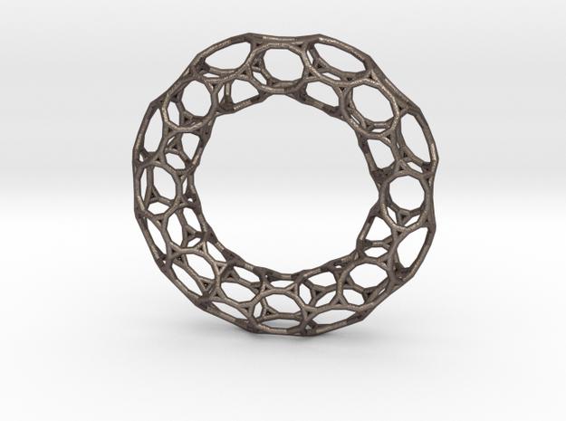 0483 Tilings [3,12,12] on Torus in Polished Bronzed Silver Steel
