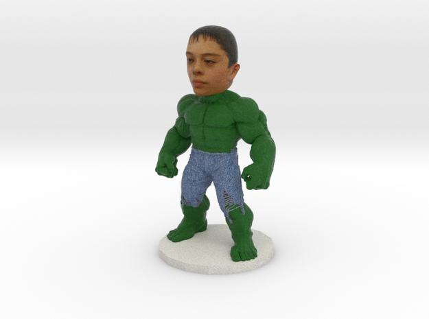 Hulk Cake Topper Mini Figure in Full Color Sandstone