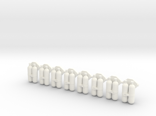 Doppelflaschengeräte 8x in White Processed Versatile Plastic