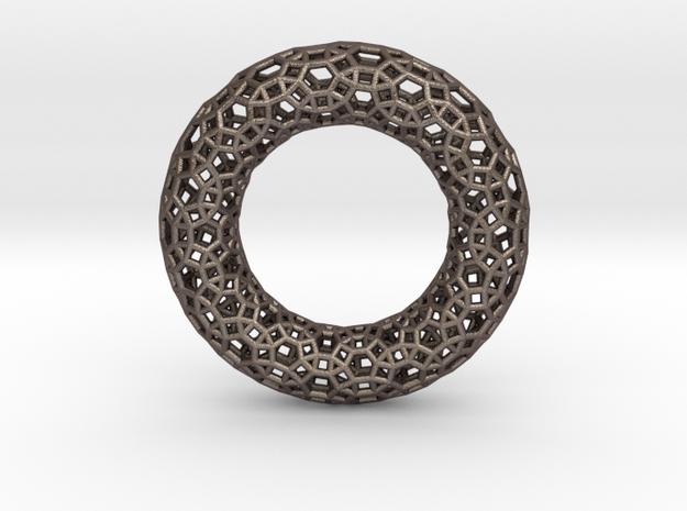0485 Tilings [3,4,6,4] on Torus in Polished Bronzed Silver Steel